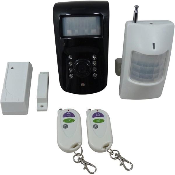 camera de surveillance gsm et 2 d tecteurs alarme. Black Bedroom Furniture Sets. Home Design Ideas